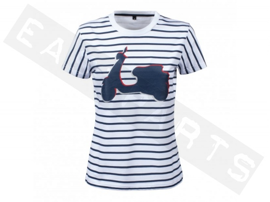 T-Shirt Damen VESPA Graphic Gestreift