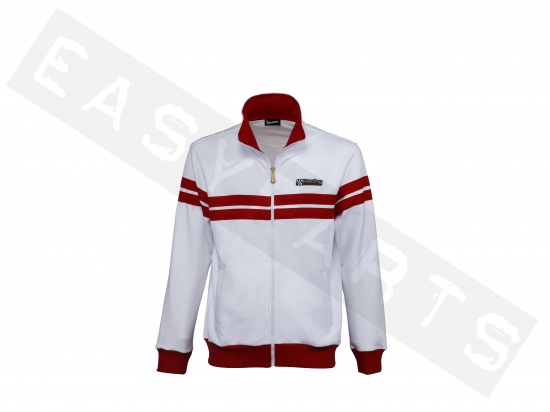 Sweat-shirt VESPA Racing Sixties Special Edition blanc/ rouge