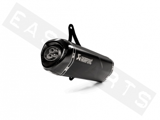 Silencieux AKRAPOVIC Slip-On Black Vespa GTS- GTV 125->300 I.E E4