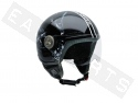 Casque Demi Jet 3D Vintage 2 Integra noir (visière formée)